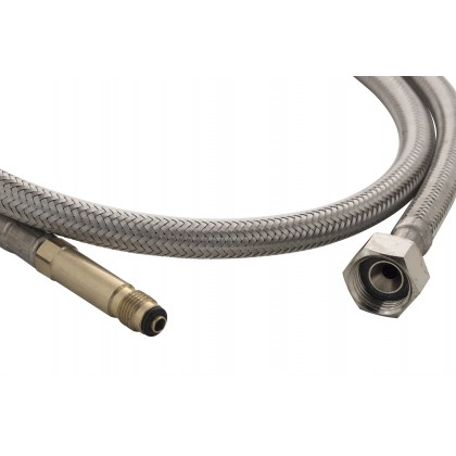 "Braided Hose 3/8"" M10 x 1M Outlet with brass connector"