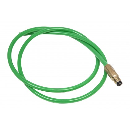 "Green Hose with Brass connector 1/4"" x 1M"