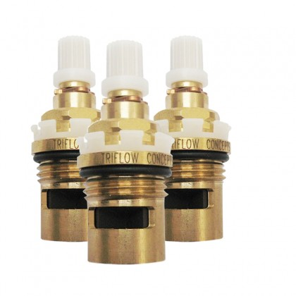 Set of 3 Clip Handle Triflow Valves